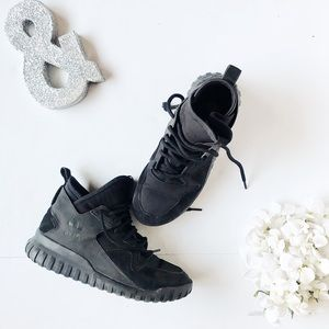 Adidas Men's Tubular X Pk Black High Top Sneakers